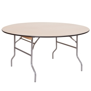 60 inch round plywood table <br> Rental Fee: 9$ <br>  (add 10% damage Waiver Fee)